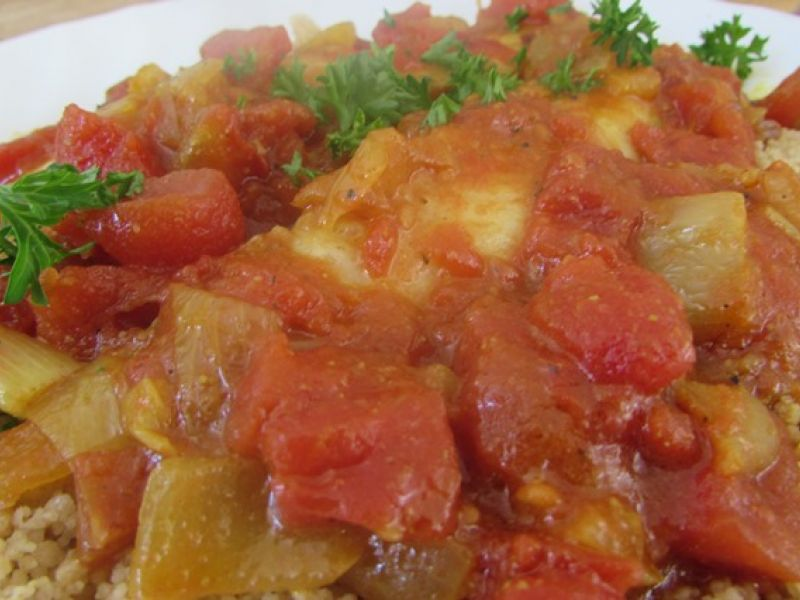 Sauce tomate 2C et son filet de poisson à l'étuvé